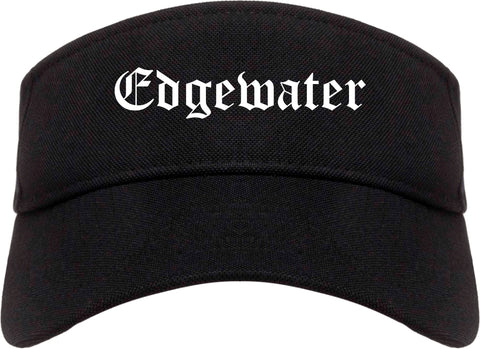 Edgewater Florida FL Old English Mens Visor Cap Hat Black
