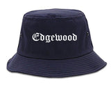 Edgewood Kentucky KY Old English Mens Bucket Hat Navy Blue