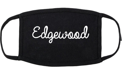 Edgewood Kentucky KY Script Cotton Face Mask Black
