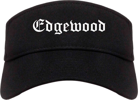 Edgewood Kentucky KY Old English Mens Visor Cap Hat Black