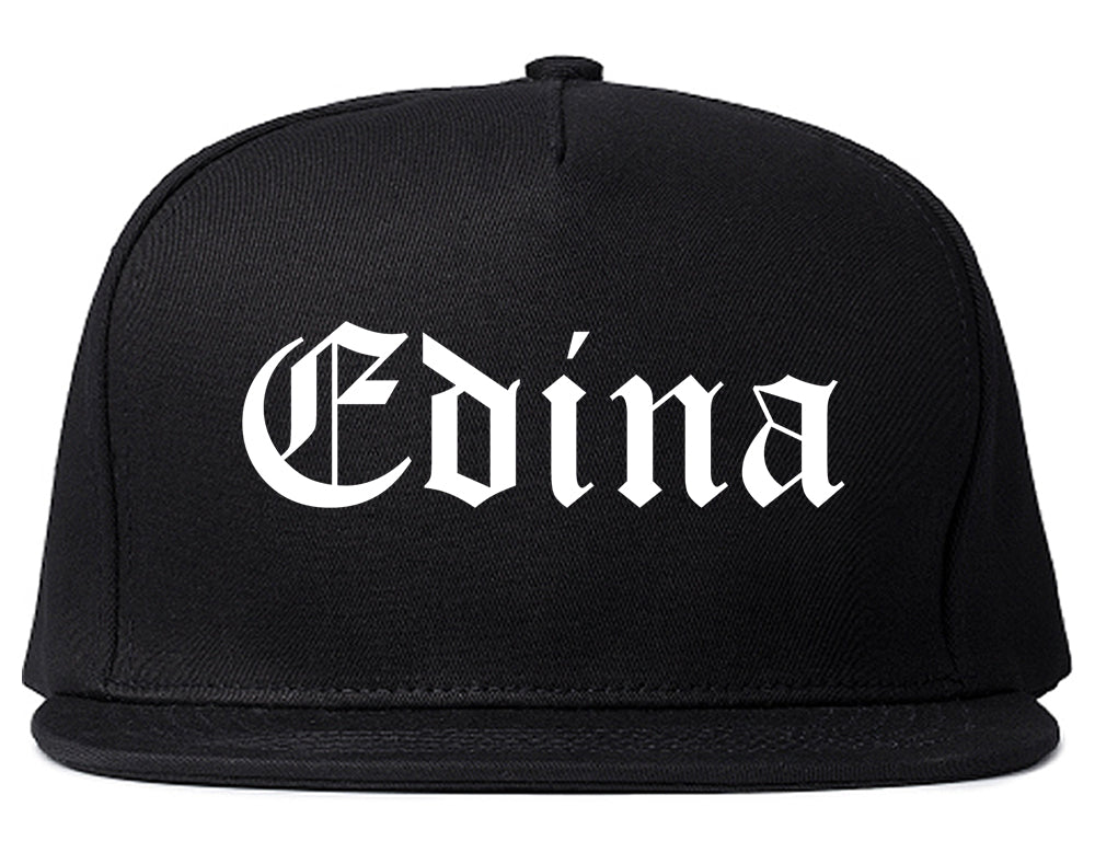 Edina Minnesota MN Old English Mens Snapback Hat Black