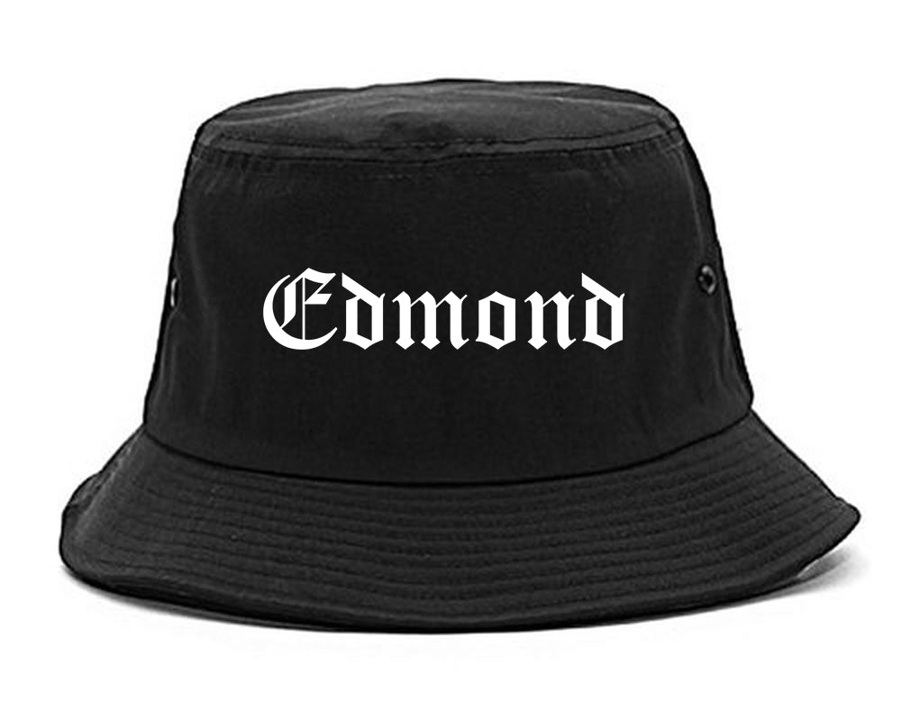 Edmond Oklahoma OK Old English Mens Bucket Hat Black