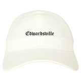 Edwardsville Pennsylvania PA Old English Mens Dad Hat Baseball Cap White