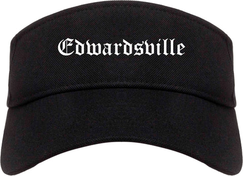 Edwardsville Pennsylvania PA Old English Mens Visor Cap Hat Black