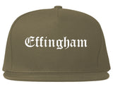 Effingham Illinois IL Old English Mens Snapback Hat Grey
