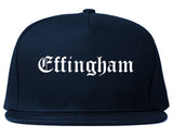Effingham Illinois IL Old English Mens Snapback Hat Navy Blue