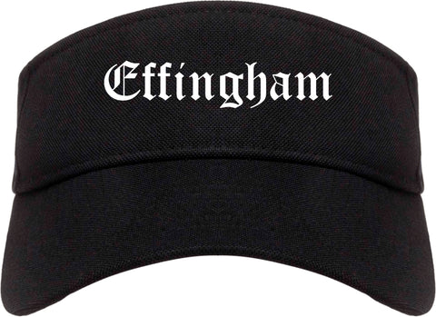 Effingham Illinois IL Old English Mens Visor Cap Hat Black