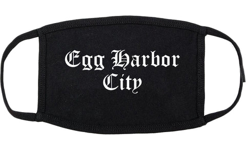 Egg Harbor City New Jersey NJ Old English Cotton Face Mask Black