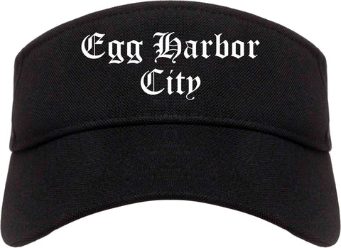 Egg Harbor City New Jersey NJ Old English Mens Visor Cap Hat Black