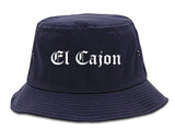 El Cajon California CA Old English Mens Bucket Hat Navy Blue