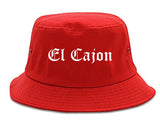 El Cajon California CA Old English Mens Bucket Hat Red
