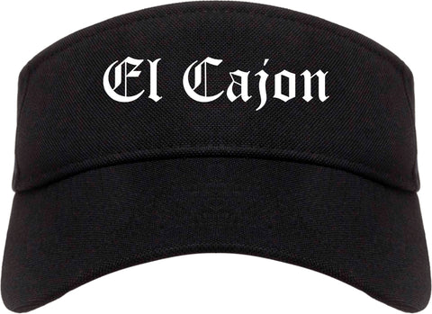 El Cajon California CA Old English Mens Visor Cap Hat Black