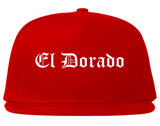 El Dorado Kansas KS Old English Mens Snapback Hat Red