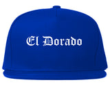 El Dorado Kansas KS Old English Mens Snapback Hat Royal Blue