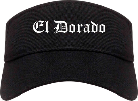 El Dorado Kansas KS Old English Mens Visor Cap Hat Black