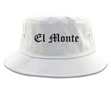 El Monte California CA Old English Mens Bucket Hat White