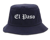 El Paso Texas TX Old English Mens Bucket Hat Navy Blue