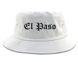 El Paso Texas TX Old English Mens Bucket Hat White