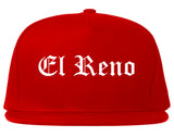 El Reno Oklahoma OK Old English Mens Snapback Hat Red