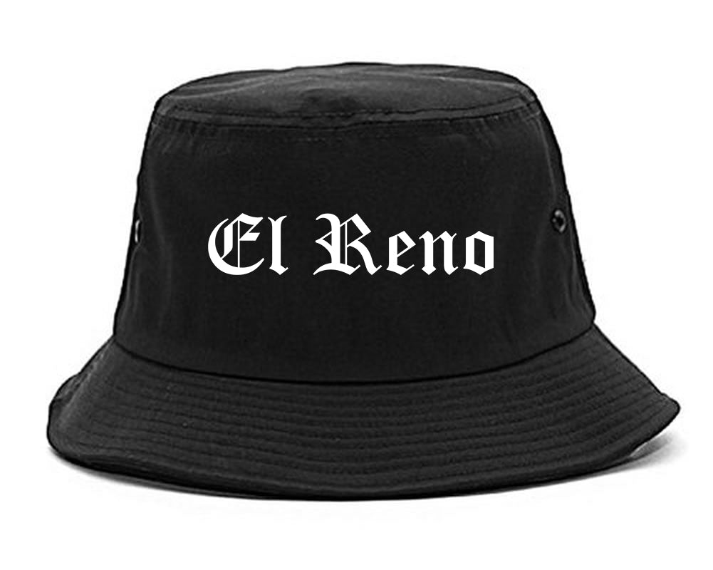 El Reno Oklahoma OK Old English Mens Bucket Hat Black