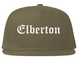 Elberton Georgia GA Old English Mens Snapback Hat Grey