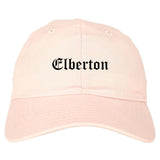 Elberton Georgia GA Old English Mens Dad Hat Baseball Cap Pink