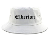 Elberton Georgia GA Old English Mens Bucket Hat White