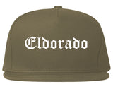 Eldorado Illinois IL Old English Mens Snapback Hat Grey
