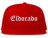 Eldorado Illinois IL Old English Mens Snapback Hat Red