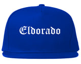 Eldorado Illinois IL Old English Mens Snapback Hat Royal Blue