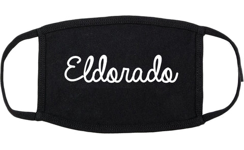 Eldorado Illinois IL Script Cotton Face Mask Black