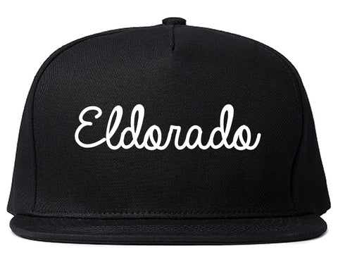 Eldorado Illinois IL Script Mens Snapback Hat Black