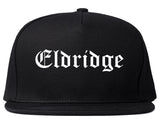 Eldridge Iowa IA Old English Mens Snapback Hat Black