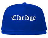 Eldridge Iowa IA Old English Mens Snapback Hat Royal Blue