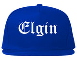 Elgin Illinois IL Old English Mens Snapback Hat Royal Blue
