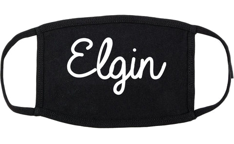 Elgin Illinois IL Script Cotton Face Mask Black