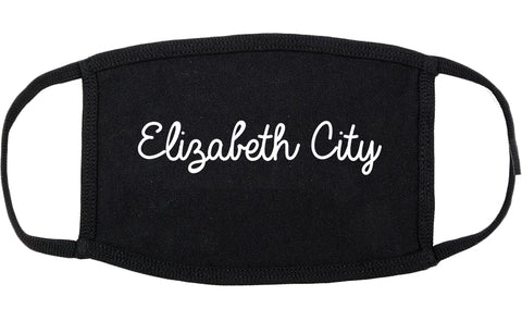 Elizabeth City North Carolina NC Script Cotton Face Mask Black