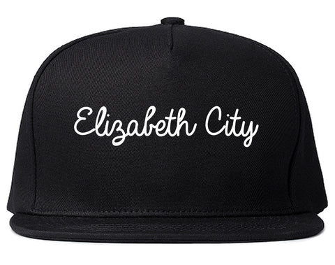 Elizabeth City North Carolina NC Script Mens Snapback Hat Black