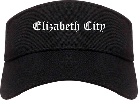 Elizabeth City North Carolina NC Old English Mens Visor Cap Hat Black