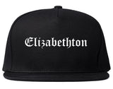 Elizabethton Tennessee TN Old English Mens Snapback Hat Black