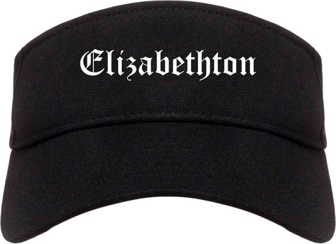 Elizabethton Tennessee TN Old English Mens Visor Cap Hat Black
