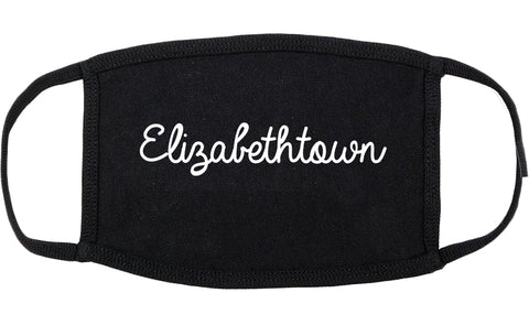 Elizabethtown Kentucky KY Script Cotton Face Mask Black