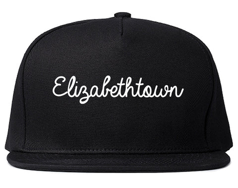 Elizabethtown Kentucky KY Script Mens Snapback Hat Black