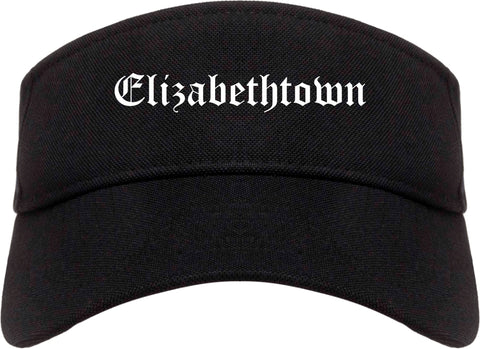 Elizabethtown Pennsylvania PA Old English Mens Visor Cap Hat Black