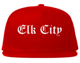 Elk City Oklahoma OK Old English Mens Snapback Hat Red