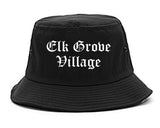 Elk Grove Village Illinois IL Old English Mens Bucket Hat Black