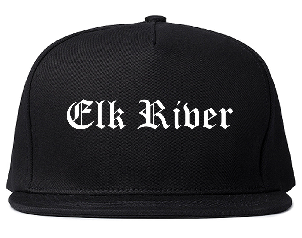 Elk River Minnesota MN Old English Mens Snapback Hat Black