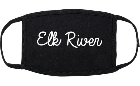 Elk River Minnesota MN Script Cotton Face Mask Black