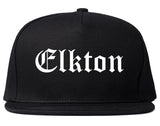Elkton Maryland MD Old English Mens Snapback Hat Black