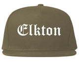 Elkton Maryland MD Old English Mens Snapback Hat Grey